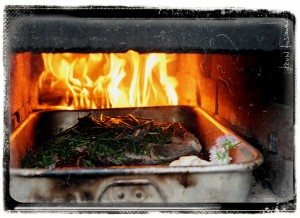 Pork in Wood Oven